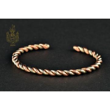 Armband Kupfer/Neusilber gedreht