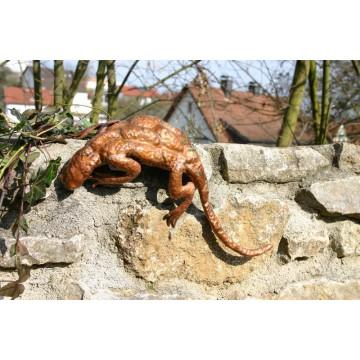 Gartenfigur Eidechse / Kupfer