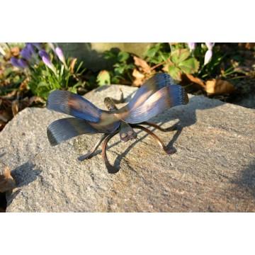Gartenfigur Libelle / Kupfer