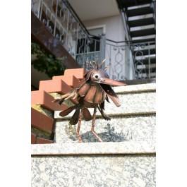 Gartenfigur Rabe / Kupfer klein