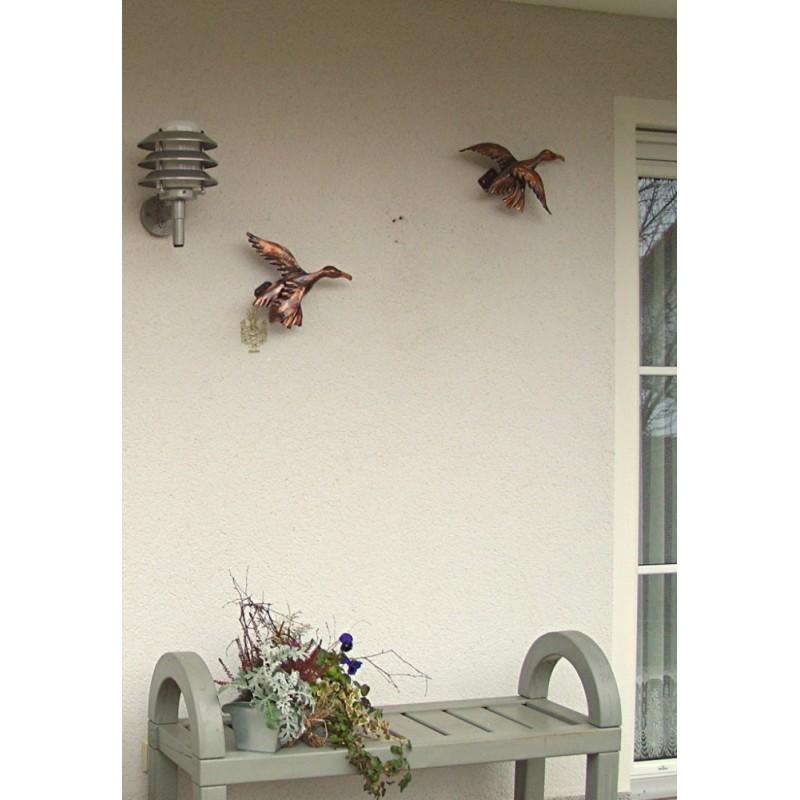 Wandbild wanddeko flugente kupfer klein kupferschmiede for Wanddeko kupfer