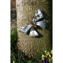 Wandbild/Wanddeko Schmetterling, Kupfer, Titanzink