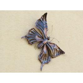 Wandbild/Wanddeko Schmetterling, Kupfer, groß