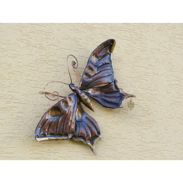 Wandbild/Wanddeko Schmetterling, Kupfer, klein