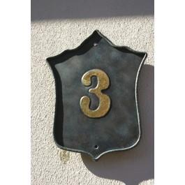 Hausnummer Kupfer, Wappenförmig