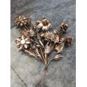 Grabschmuck Blumenstrauß / Kupfer