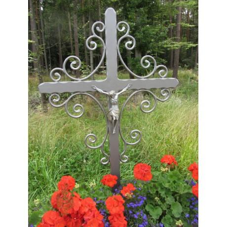 Grabkreuz schlichte Form / Schmiedeeisen