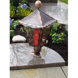 Grablampe mit Glaseinsatz - geradeForm / Kupfer
