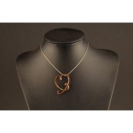 Kettenanhänger Kupfer Herzform