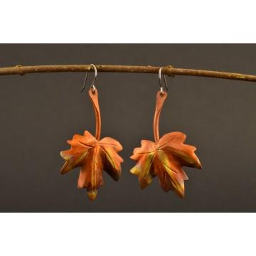 Ohrringe Kupfer - Ahornblatt