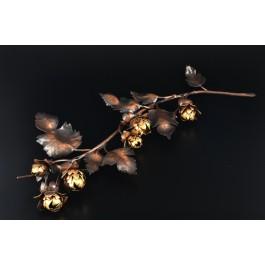 Grab Schmuck, Hopfenblüten - Ranke aus Kupfer