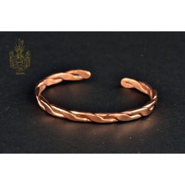 Kupferarmband, gedreht