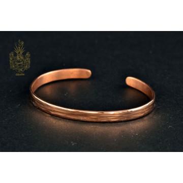 Armband Kupfer/Hammerschlag längs