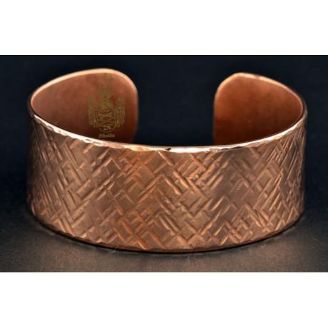 Armband Kupfer / Hammerschlag gekreuzt
